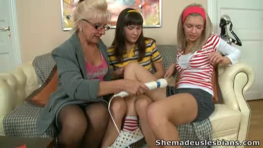 Lesbian-threesome-with-two-young-babes-and-mature-woman