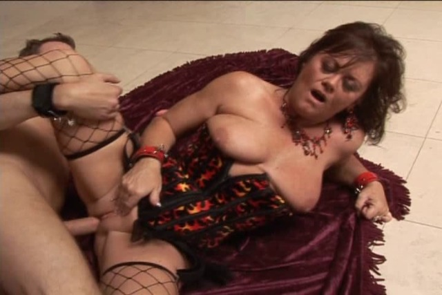 MILF-mistress-enjoys-having-her-shaved-cunt-finger-and-tongue-fu