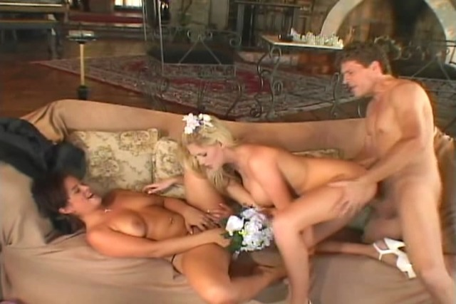 Bride-groom-and-bridesmaid-in-furious-threesome-fucking