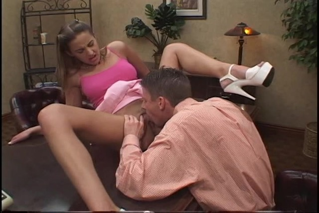 Young-slut-with-a-short-pink-skirt-plays-with-her-pussy