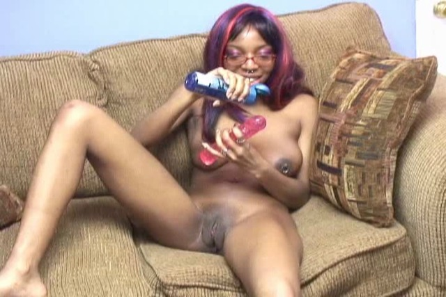Girl-sits-on-dildo-to-fuck-her-pussy-fast-and-hard-on-sofa