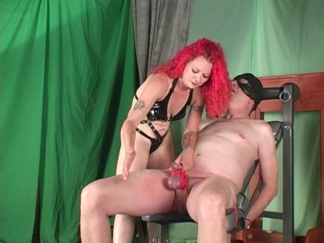 Redhead-ballbusting-Mistress-punishes-balls