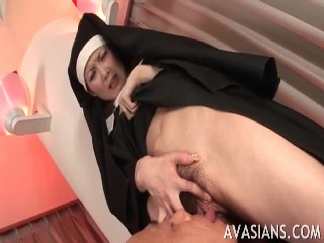 Atracting-nun-demands-just-to-lick-her-ass-hole