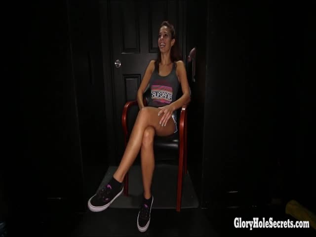 Eva-Long-super-hot-MILF-inside-of-a-gloryhole-booth-sucking-off-