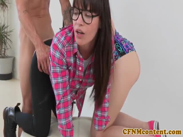 Femdom-cfnm-teases-cock-before-anal-fucking