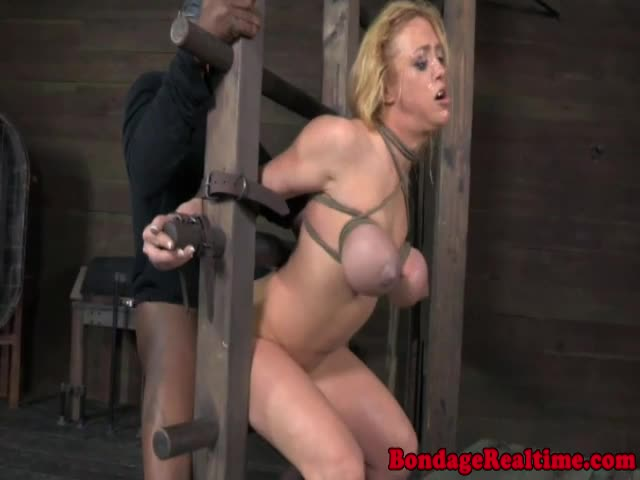 Breastbound-sub-mouth-and-cunt-fucked