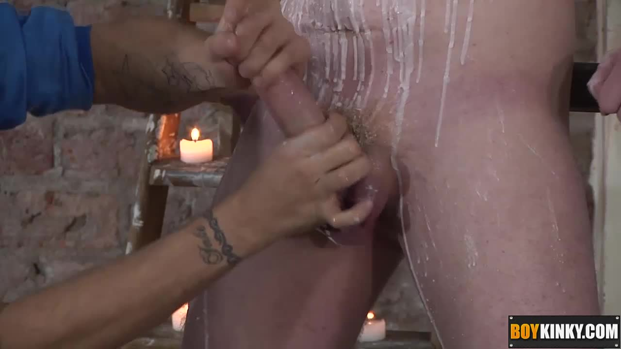 Deacon-is-splashing-his-body-and-big-hard-cock-with-hot-wax