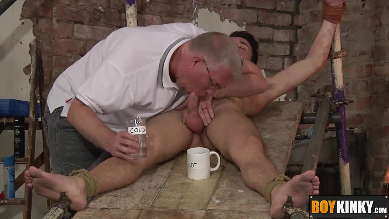 Master-pouring-candle-wax-on-his-bound-sexy-twink-Izan-Loren