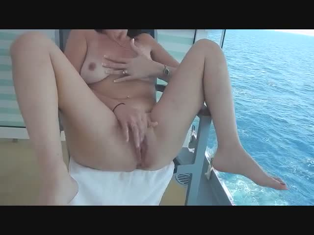 Nude-Swinger-Cruise-Fun-on-a-Balcony