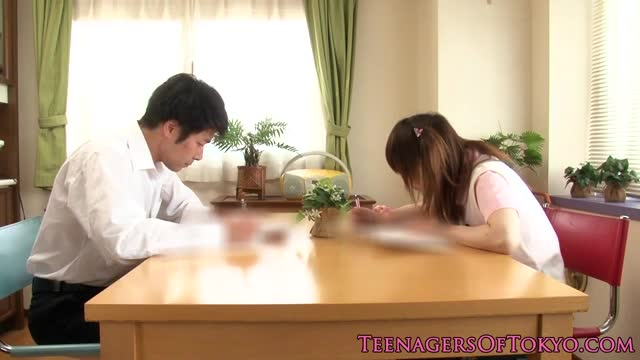 Asian-schoolgirl-doggystyle-plowed-on-couch
