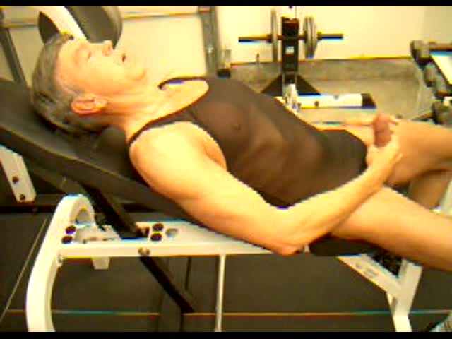 Fitness-trainer-Dick-Dodd-demonstrates-penis-ejaculation-big-cum