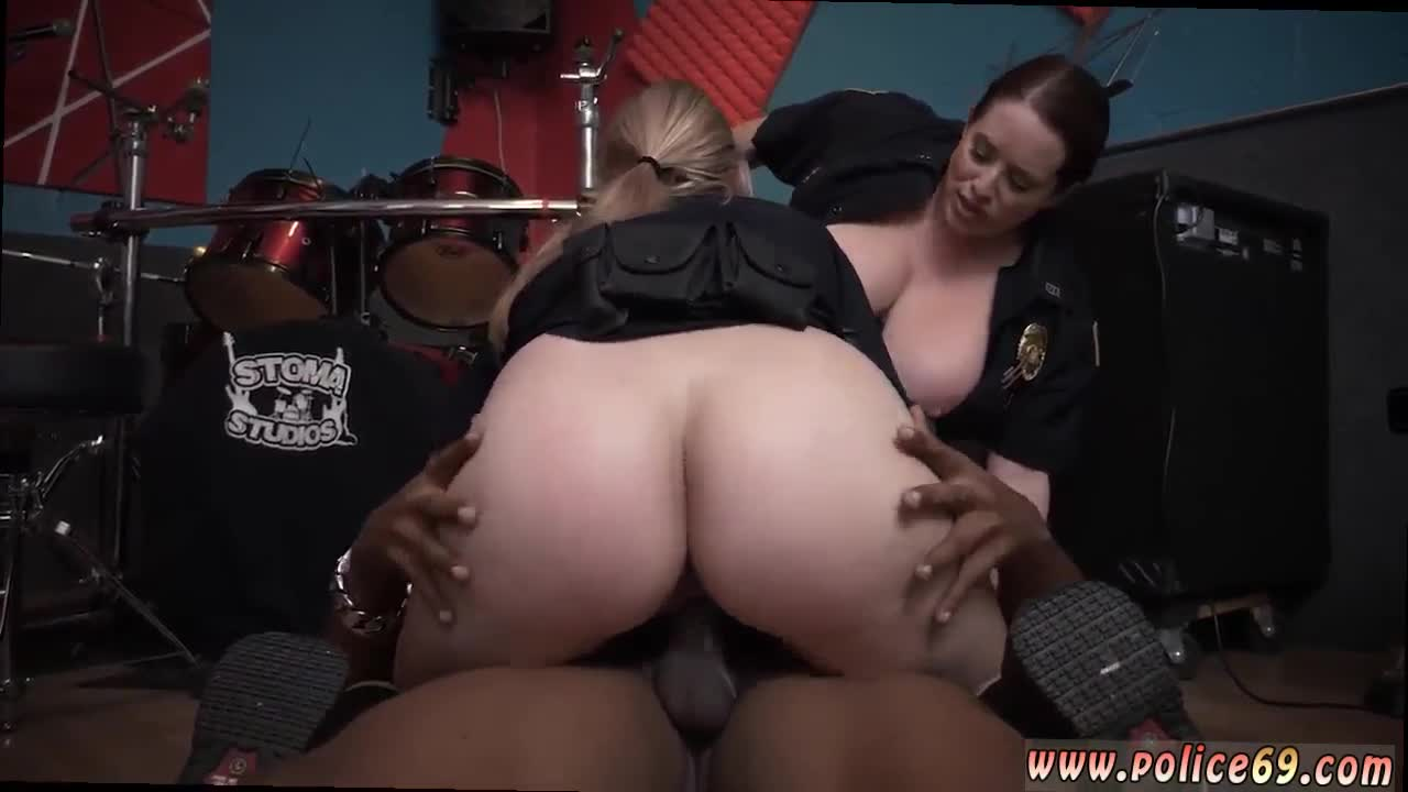 Police gagged raw flick grasps police 6