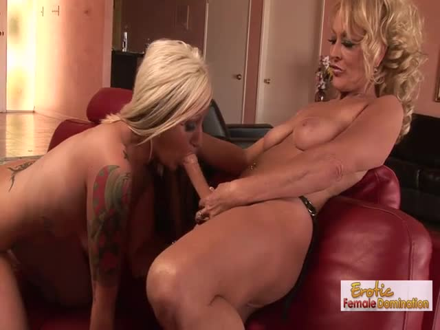 Blonde-slave-babe-gets-her-first-strapon-fucking-lesson