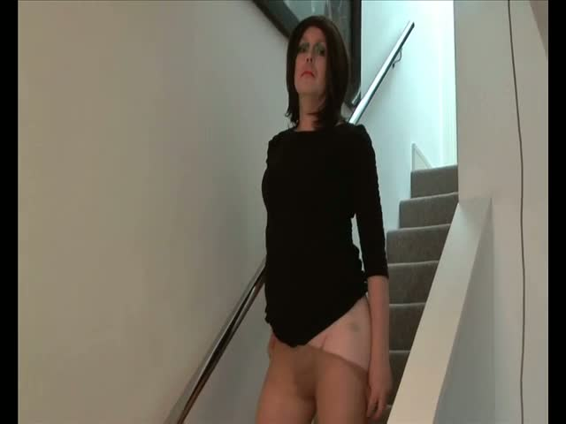 Transvestite-Emma-Lee-Upskirt-Cock-and-Ass-in-Pantyhose-