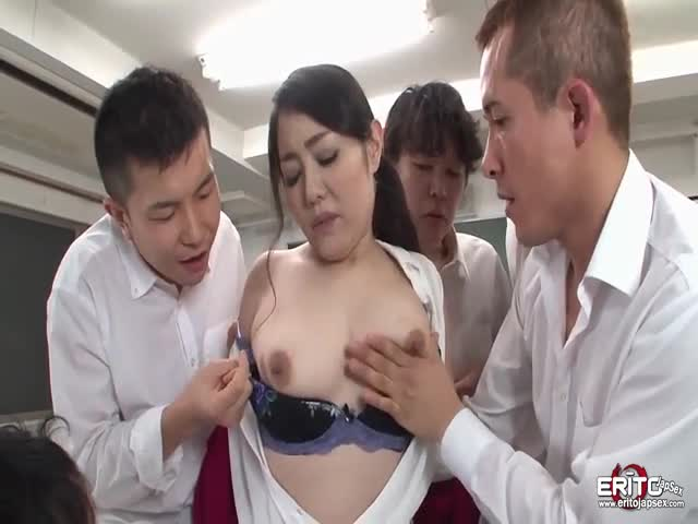 Luscious-Japanese-teacher-gangbanged-by-her-horny-students
