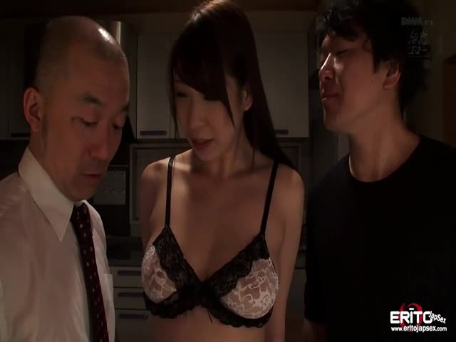 Big-boobs-Japanese-wife-take-turns-fucked-and-creampied
