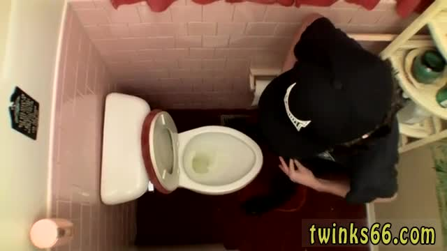 Free-gay-hairy-rubbing-dick-porn-Unloading-In-The-Toilet-Bowl