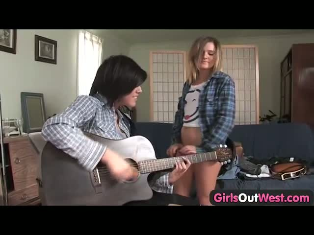 Girls-Out-West-Cute-lesbian-musicians-with-shaved-cunts