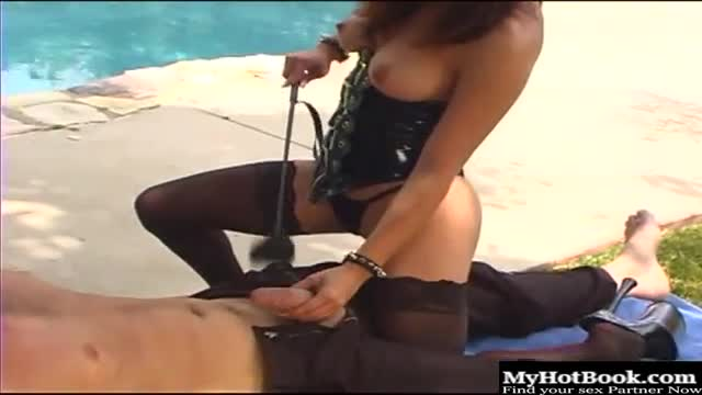 Gauge makes a very good dominatrix with her big tits that look marvelous