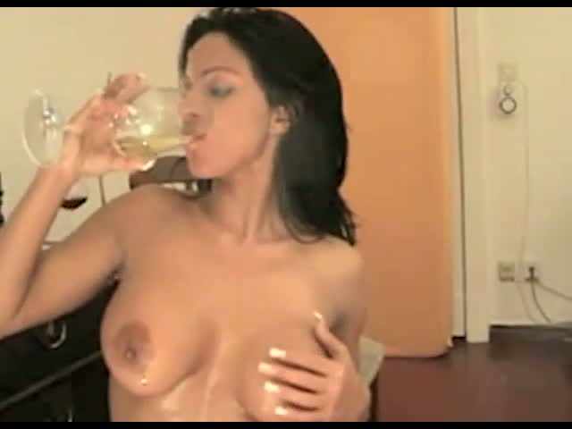 Self-Shot,-Nasty-girl-drinks-piss-