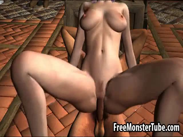 Sexy-pink-haired-3D-cartoon-elf-babe-gets-fucked