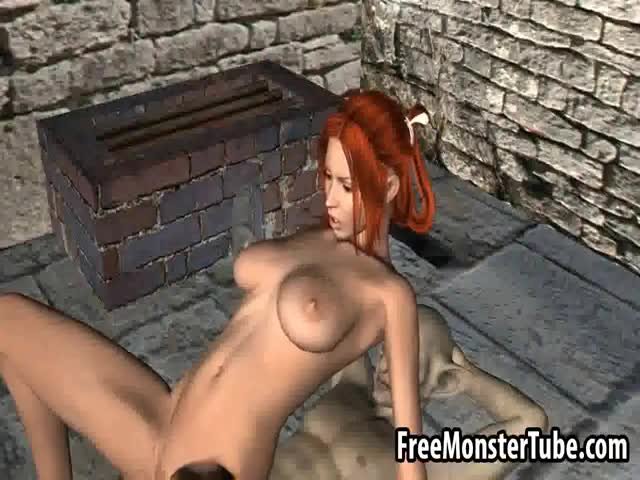 Sexy-3D-redhead-babe-getting-fucked-hard-by-a-goblin