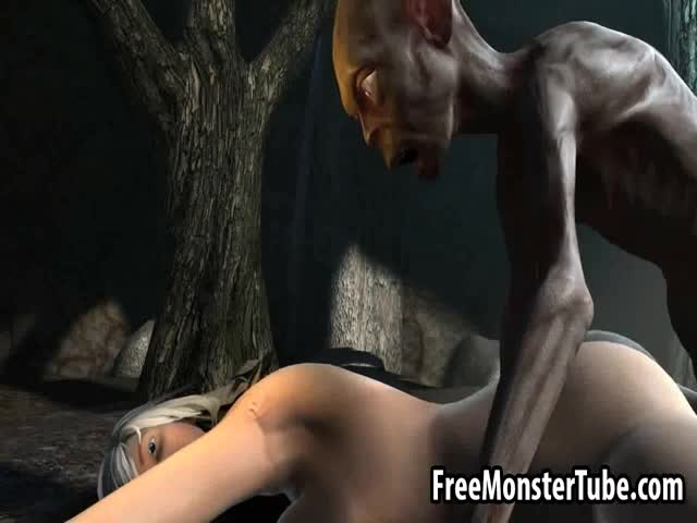 3D-babe-getting-fucked-hard-in-the-woods-by-Gollum
