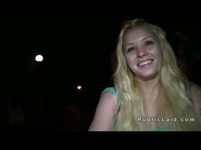 Blonde-sucking-huge-cock-in-the-park-pov-at-night