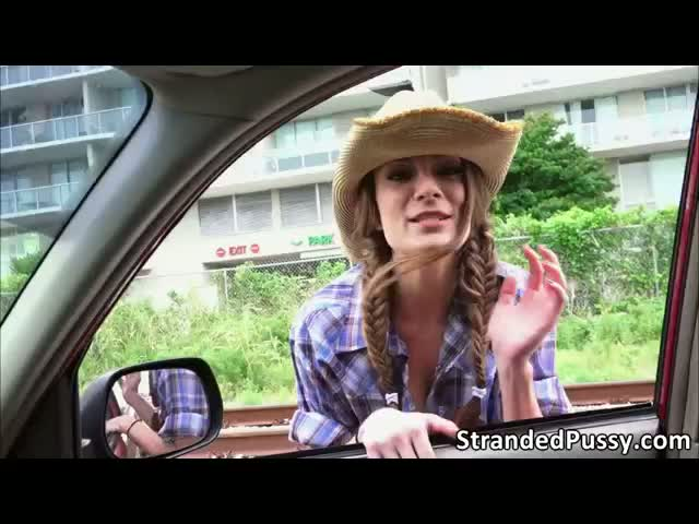 Pretty-cowgirl-Dillion-rides-a-big-cock-in-the-backseat