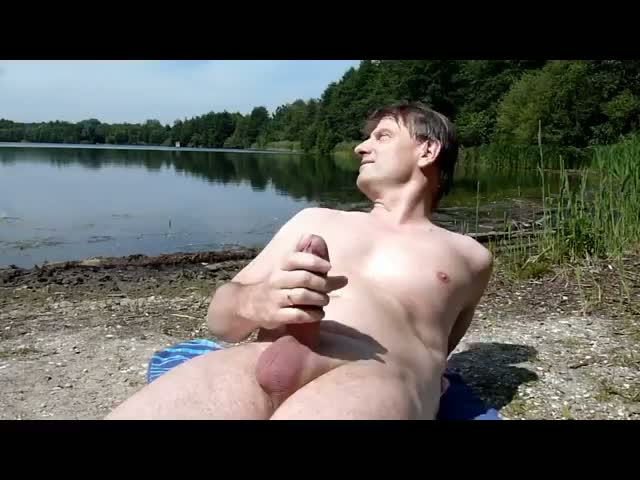 Jerking-off-at-the-lake
