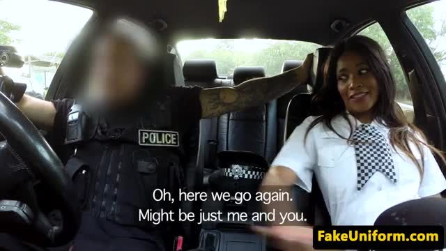 Uk cops trio outdoors with busty babe POV