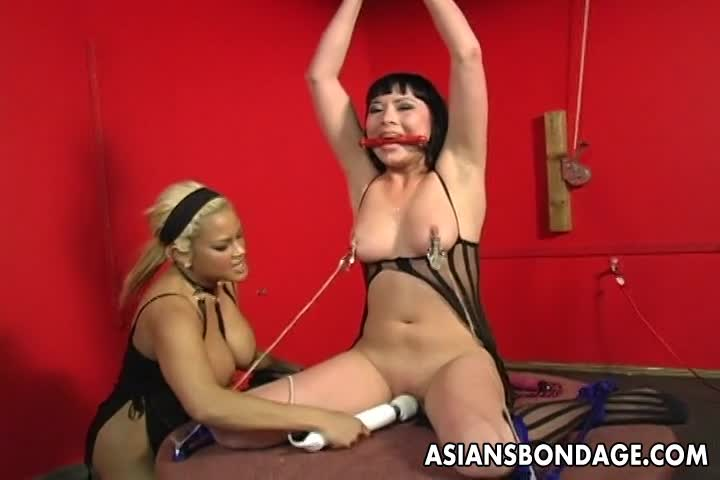 One-freaky-brunette-is-tied-up-and-spun-by-her-blonde-master