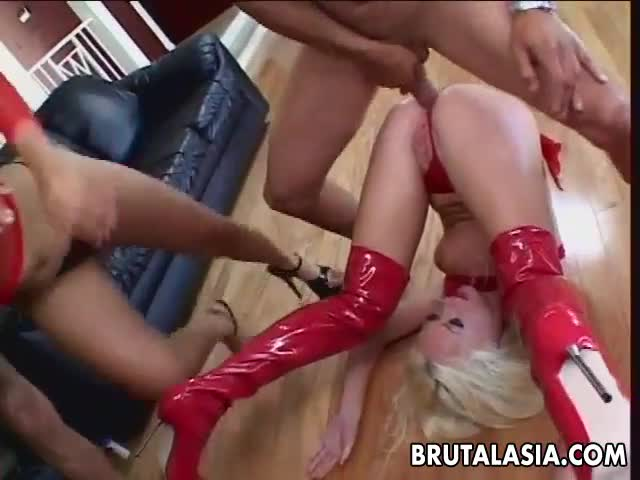 Thai-slut-and-her-blonde-friend-fucked-by-two-huge-cocks