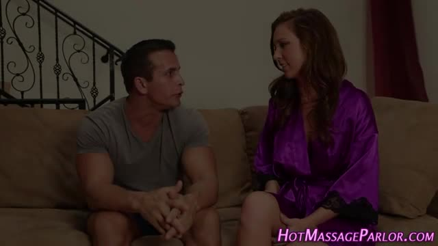 Hot-masseuse-licks-cum