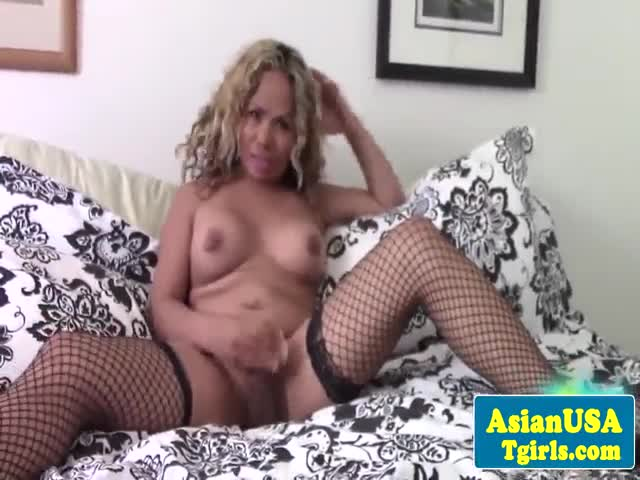 Curlyhaired-asian-tgirl-kayla-wanks-cock
