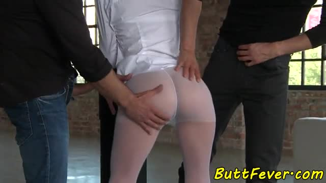 European beauty anally fucked by two cocks