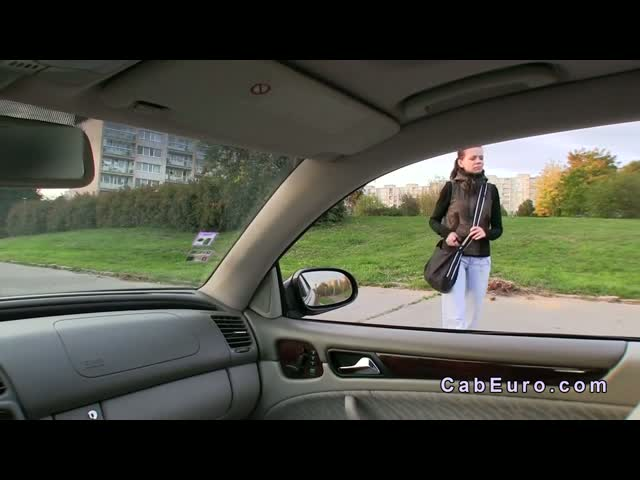 Czech-student-gives-blowjob-in-fake-taxi-for-cash