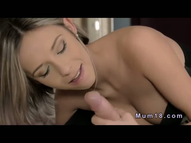Blonde-milf-gets-cum-all-over-her-pussy-in-bedroom