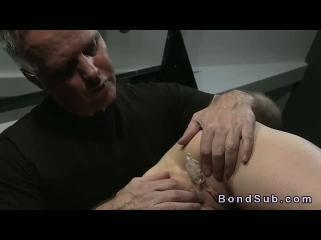 Bound-slave-gets-toy-ass-to-mouth-and-deep-throat-fucked