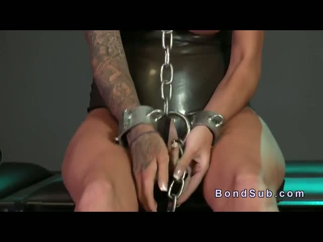 Chained-busty-slave-fucked-in-dungeon