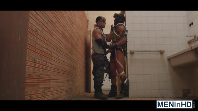 Guys-in-uniform-Hector-and-Paddy-having-sex-in-the-bathroom