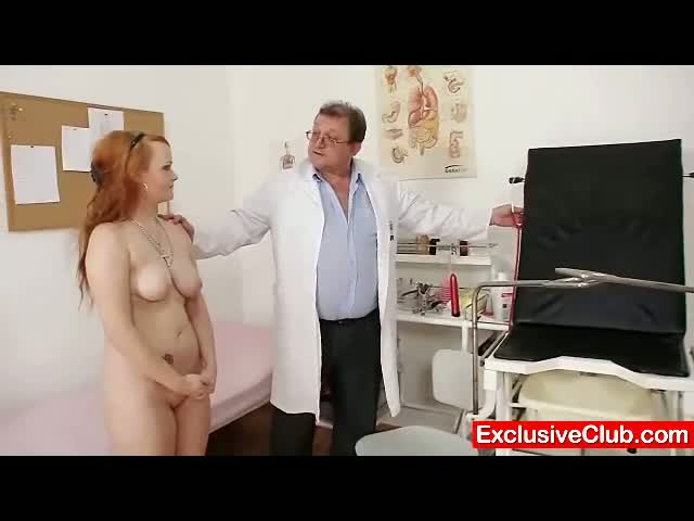 Redhead-Samantha-checked-by-kinky-gyno-doctor