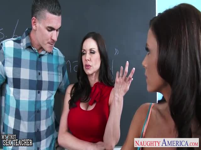Sex-teachers-Kendra-Lust-and-Whitney-Westgate-sharing-cock-in-cl