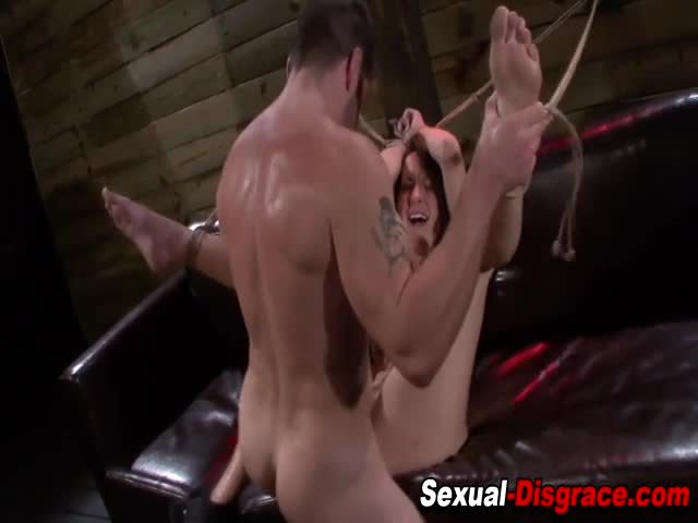 Tied-up-slave-gets-facial