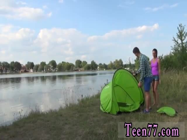 Teenburg-creampie-Eveline-getting-humped-on-camping-site