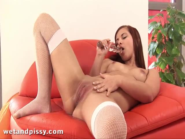 Redhead-soaks-her-panties-in-golden-pee