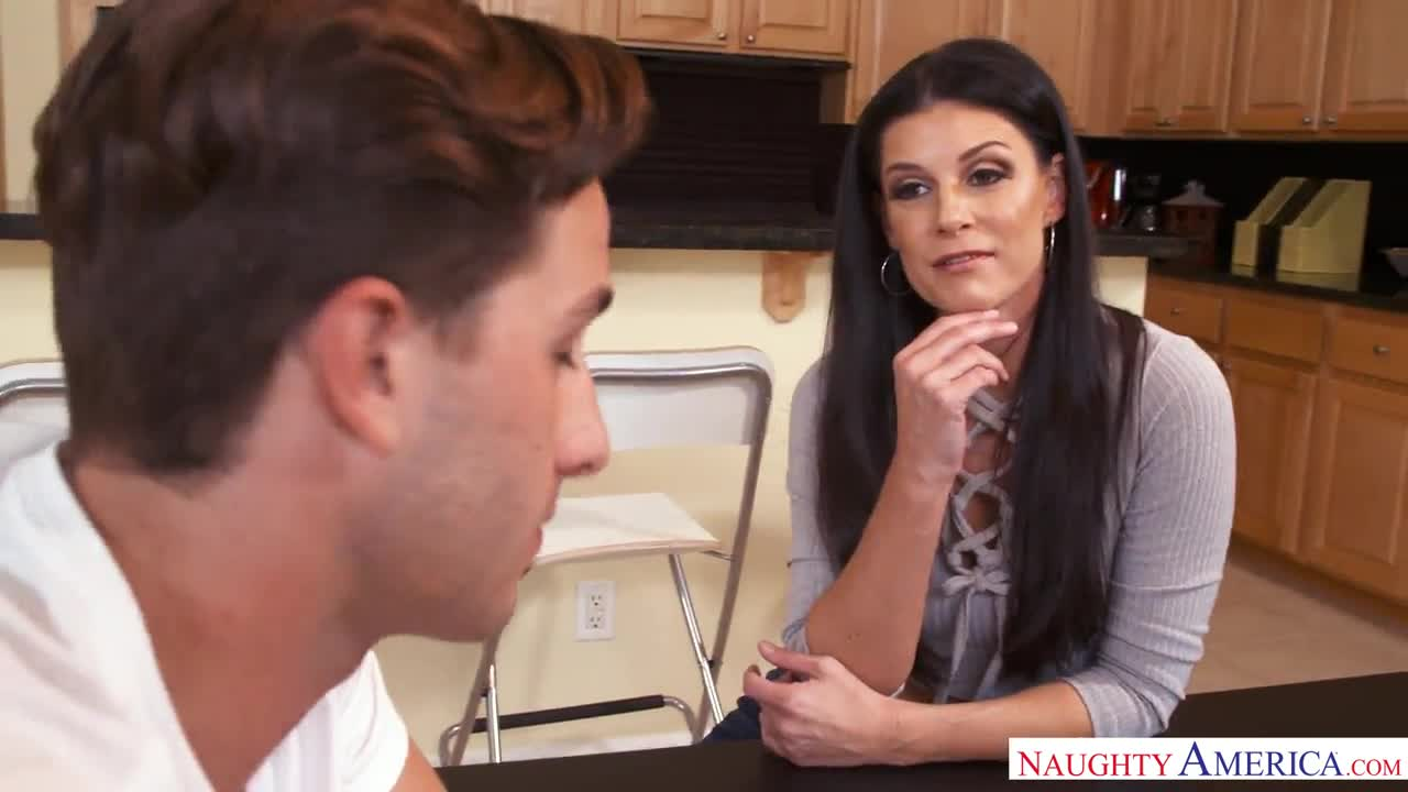 India Summer greedily sucks dick son