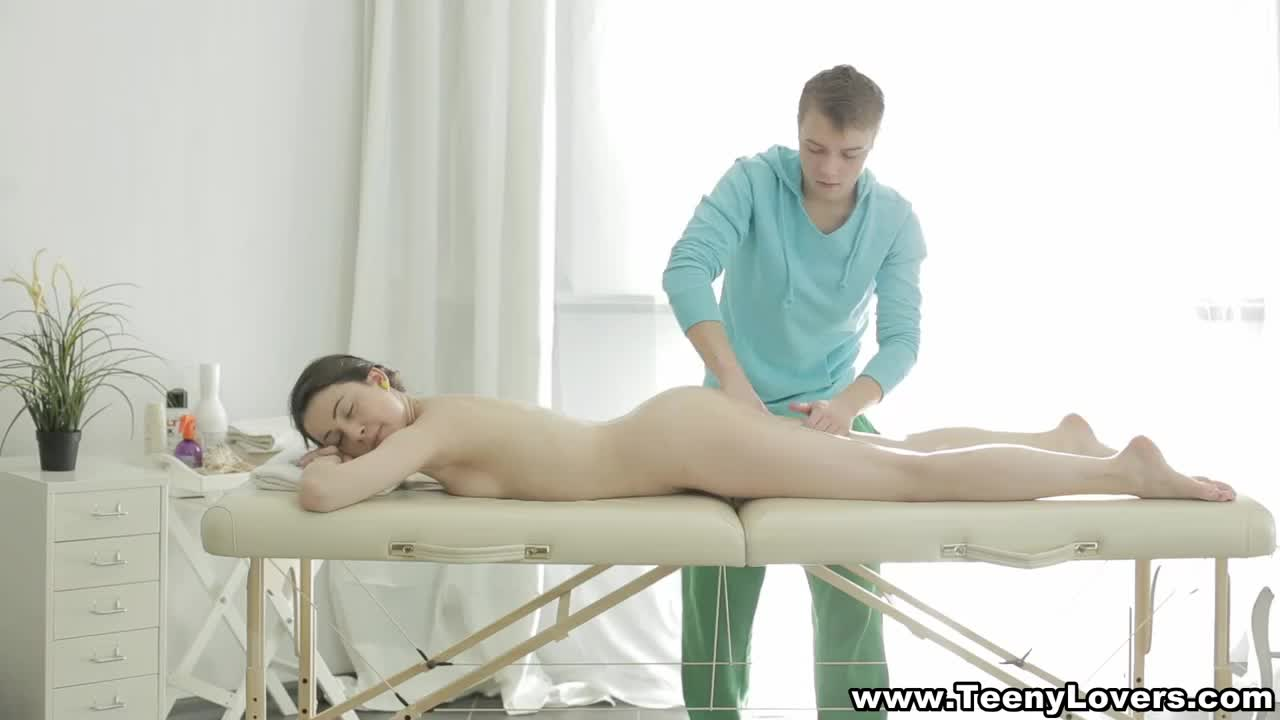 Teeny-fucked-on-massage-table
