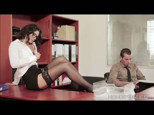 Geek-Office-girl-Alexas-wild-and-semi-romantic-sex