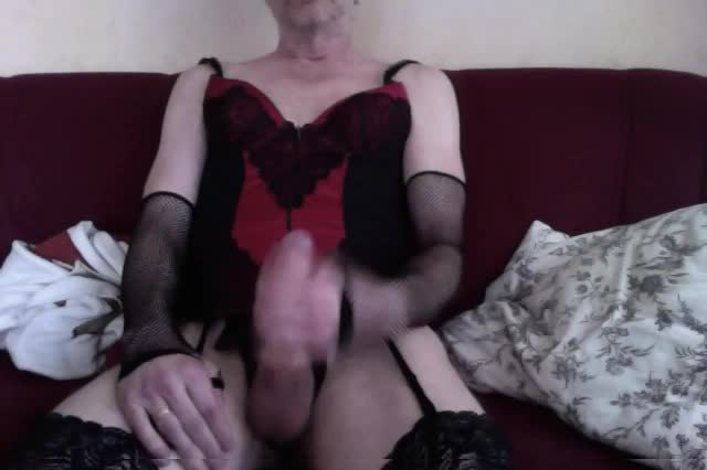 Jerking-my-sissy-cock